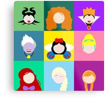 Disney Icons Metal Print