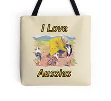 After the Rain Australian Shepherd Painting Tote Bag