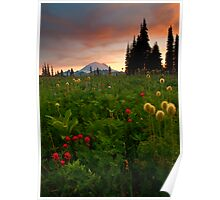 Paintbrush Sunset Poster