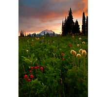 Paintbrush Sunset Photographic Print