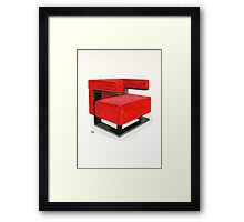 F-51 armchair - Watercolor painting   Framed Print