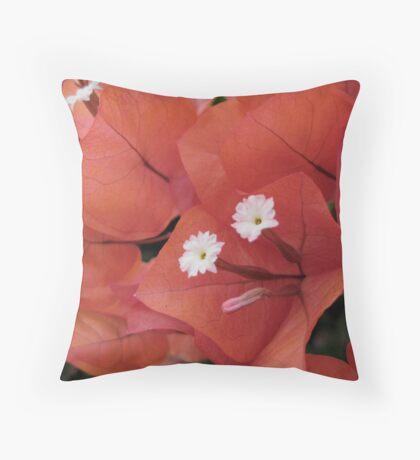 September Bougainvillea Throw Pillow
