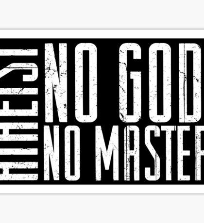 Atheist - No Masters  Sticker