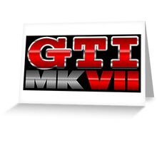 VW GTI MK7 Icon Greeting Card