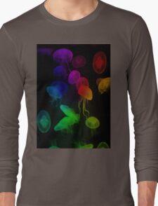 Jellyfish Rainbow Long Sleeve T-Shirt
