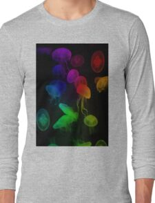Jellyfish Rainbow Long Sleeve T-Shirt