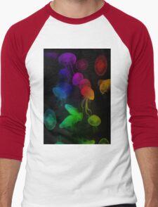 Jellyfish Rainbow Men's Baseball ¾ T-Shirt