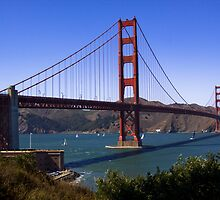 Golden Gates north and south towers by Ted Petrovits