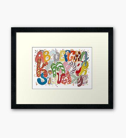 Party Alphabet Framed Print