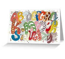 Party Alphabet Greeting Card