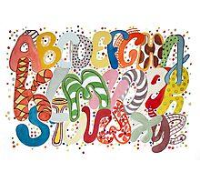 Party Alphabet Photographic Print