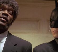 Pulp Fiction - It's Better With Batman Sticker