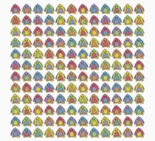 Rainbow Penguins One Piece - Short Sleeve