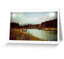 Fraser River view Greeting Card