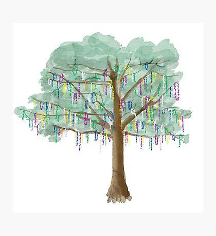 Mardi Gras Tree - watercolor Photographic Print