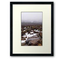 Snow on the lake 2 Framed Print