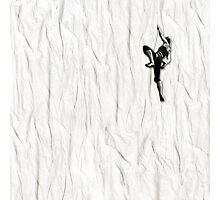 Woman Climbing a Wrinkle Photographic Print
