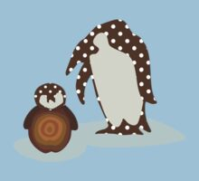 Father and Baby Penguin Baby Tee