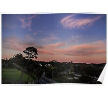 Sunset at the Sandspit Poster