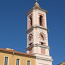 Nizza - Clock Tower of the Rusca Palace by jean-louis bouzou