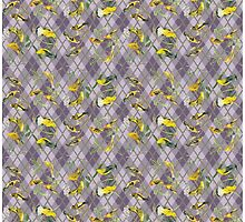 Argyle Audubon in Yellow & Lilac by airdrie