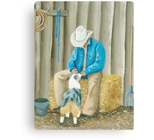 Best Buddies Oil Painting Canvas Print