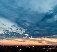Reykjavik Sunset Panorama by Stefán Kristinsson