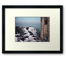 Closing Doors Behind Framed Print