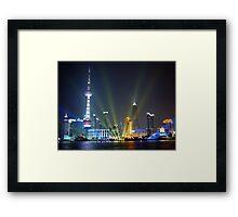 Live, from Shanghai! Framed Print