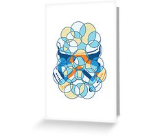 Trooper Abstract Greeting Card