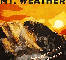 The 100 - Vintage Travel Poster (Mt. Weather) by uselessrhetoric