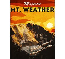 The 100 - Vintage Travel Poster (Mt. Weather) Photographic Print