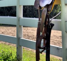 Saddle on the Fence Sticker