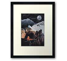 Dark Fields and Nervous Ways Framed Print