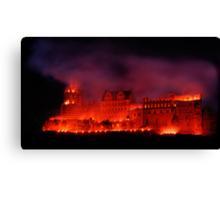 Flaming Castle Canvas Print