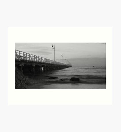 Shorncliffe Pier BW Art Print
