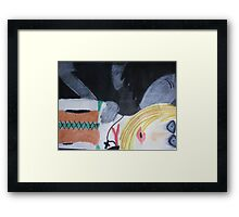 Kiss To Kill Framed Print