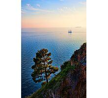Schooner on the Amalfi Coast Photographic Print