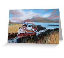 Mooring at The Ross of Mull Greeting Card