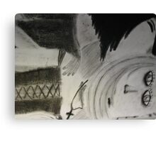 Grey Kiss to Kill Canvas Print