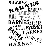 Barnes Surname Design Photographic Print