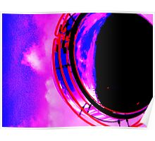 Abstract red magenta black blue Poster