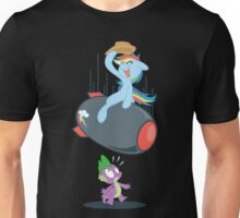 Rainbow Dash Rides the Bomb Unisex T-Shirt