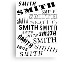 Smith Surname Design Canvas Print
