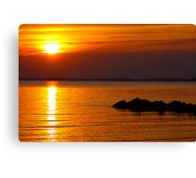 Sunset over the James River Canvas Print