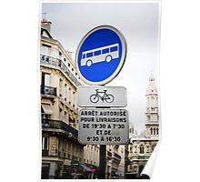Downtown Paris Poster
