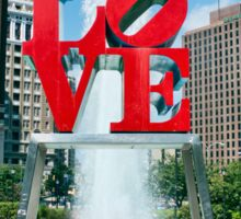 Love in the City of Brotherly Love Sticker