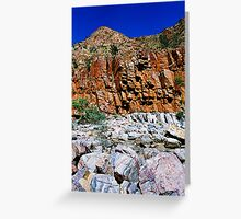 desert rockscape Greeting Card