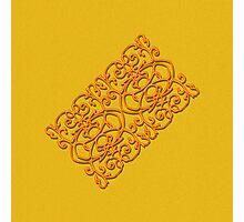 Clockwork Orange on Orange Photographic Print