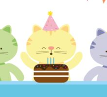 Happy Cat Birthday! Sticker